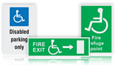 Disabled Guidance Safety Signs