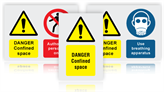 Confined Space Hazard Warning Safety Signs