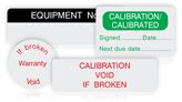 Tamperproof Calibration Labels