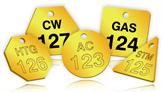 Custom Printed Brass Valve Tags