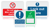 Safety Lockout Signs