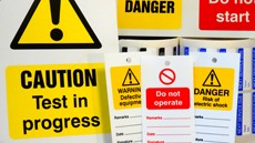 Plant Maintenance Signs, Labels & Tags