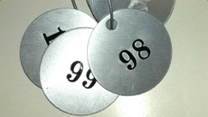 Serial Numbered Aluminium Valve Tags