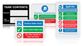 Spill Control & Liquid Storage Signs