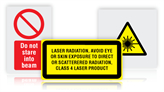 Laser Hazard Warning Safety Signs
