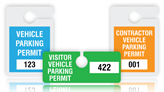 Standard Parking Permit Tags
