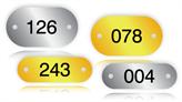 Serial Number Metal Tags