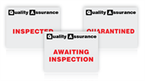 Quality Assurance Status Labels