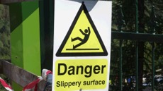Slips, trips and falls hazard warning signs