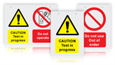 Electrical Maintenance Safety Signs