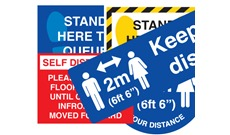Social Distancing Signs, Labels and Stickers