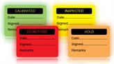 Fluorescent Stock Control Labels