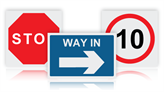 Non-Reflective Site Traffic Signs