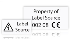 Custom High Temperature Labels