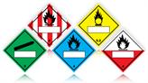 Hazard Warning Diamond Labels with Write-on Panels