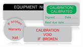 Tamper Evident Calibration Labels