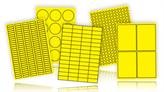 Industrial Grade Laser Labels - Yellow