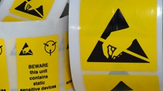 Electrostatic Discharge Warning Labels and Signs