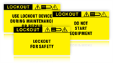 Safety Lockout Labels