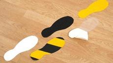 Slip-Resistant Footprint Stickers