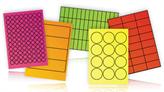 Fluorescent A4 Printer Labels