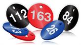 Serial Numbered Coloured Aluminium Valve Tags