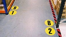 Aisle Floor Identification Markers