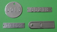 Stamped Tinplate Tags