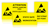 Electrostatic Warning Signs