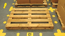 Warehouse Floor Aisle Markers