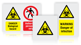Biological Hazard Warning Safety Signs
