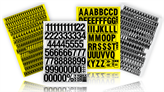 Magnetic Letters and Number Labels