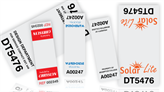 Cable Wrap Serial Number Labels