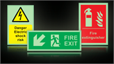 Photoluminescent Safety Signs and Tapes