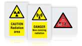 Radiation Hazard Warning Safety Signs