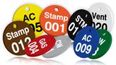 Custom Valve Tags: Printed Plastic
