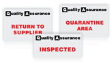 Quality Assurance Inspection Signs