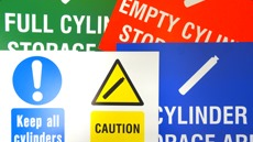 Gas Cylinder Storage Signs