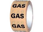 Gas pipeline identification tape.