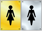 Ladies symbol door sign.