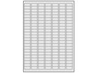 Silver tamper evident (checkeredboard) polyester laser labels, 12mm x 25mm