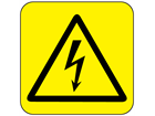 Electrical hazard symbol