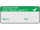 Tested for electrical safety aluminium foil labels.