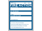 Fire action notice safety sign.