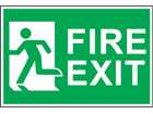 Fire exit, symbol facing left safety sign.