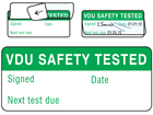 VDU safety tested write and seal labels.