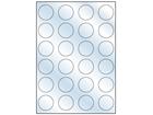 Transparent laminate labels, 40mm diameter