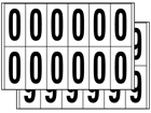 Multipurpose number set, 56mm x 21mm