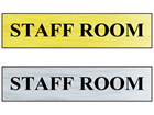 Staff room public area sign