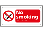 No smoking text and symbol sign.